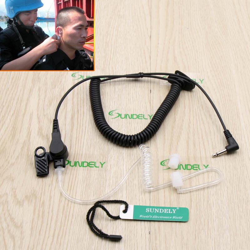 Acoustic Headset 3.5mm Listen Only Earpiece Kenwood Motorola Radio Walkie Talkie