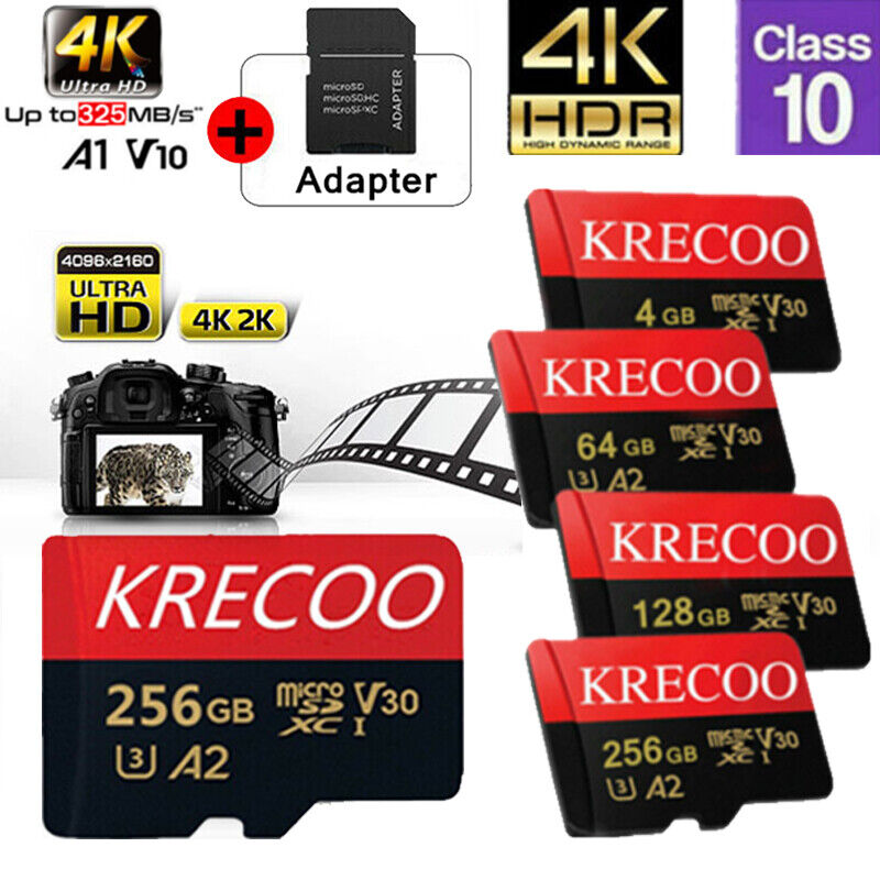 Universal Micro SD Card 64GB 128GB 256GB TF Class 10 for Smartphones Tablets