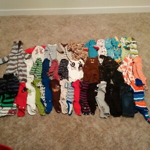 Bundle of NB to 3 month baby boy clothing