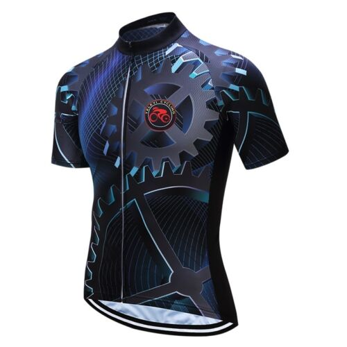 New TELEYI Men Gear Cycling Bike Shirt Bicycle Clothing Short Sleeve Jersey Top