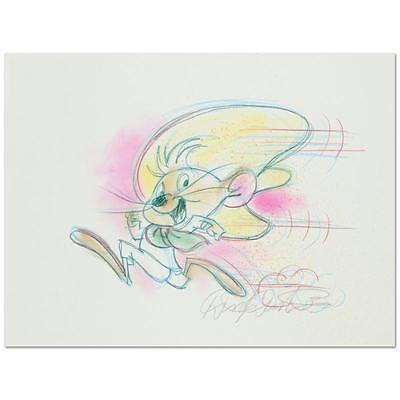 Original  Dick Duerrstein Colored Pencil Drawing  Speedy Gonzales  Disney