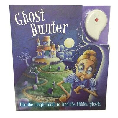 Kids Book Ghost Hunter story book UV Magic Torch included activity engage fun ()