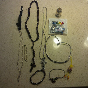 Men-Assorted Silver Necklaces and bracelets lots