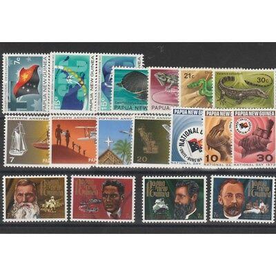 PAPUA  NEW GUINEA 1972 ANNATA COMPLETA 19 VAL MNH MF57508