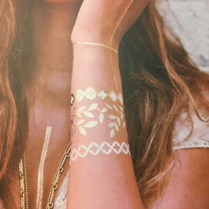 Temporary Metallic Tattoos - Great for Festivals!