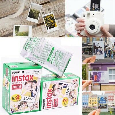 20 Sheets Fujifilm Instax Mini 8 Film Instant Photo Paper for  7s 25 50 90 SP1