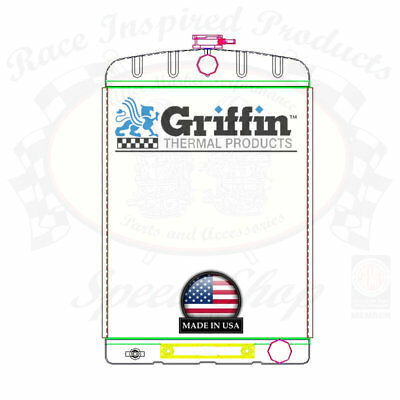 Griffin Universal Rat Rod Radiator w/ Automatic Tr