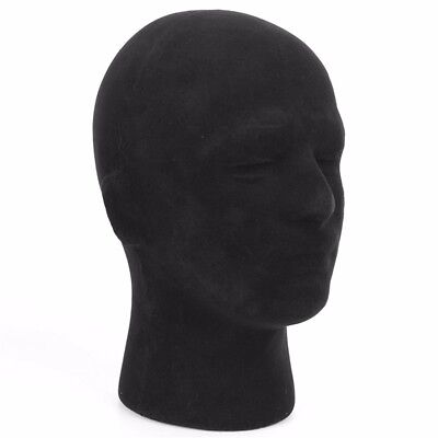 11 Male Men Black Styrofoam Foam Mannequin Manikin Stand Model Display Head Us