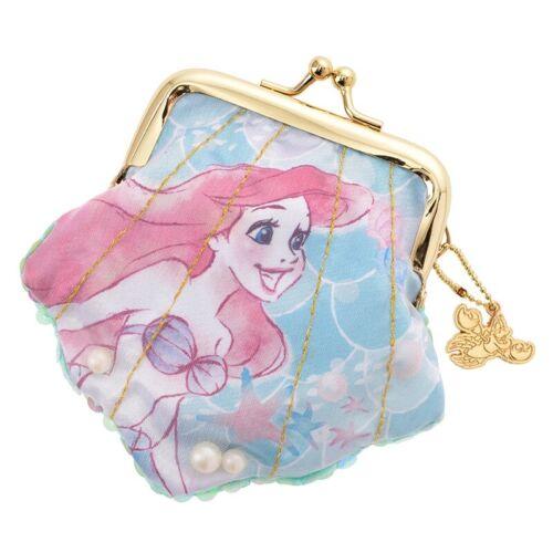 Disney Japan Princess Ariel Crystal Dream Mermaid Coin Purse Bag Charm Pearl