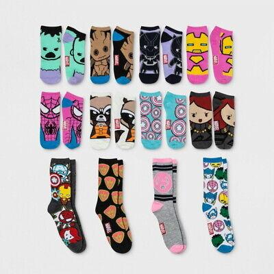Women's Avengers Marvel 12 Days Of Socks Gift Set Size 4-10 Advent Calendar NWT