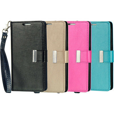 For Samsung Galaxy S6   Multi Card Pu Leather Card Wallet Flip Pouch Case Cover