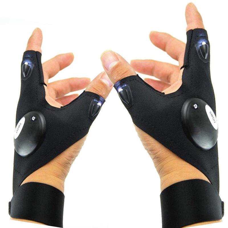 LED Light Finger Lighting Gloves Auto Repair Flashing Lighti