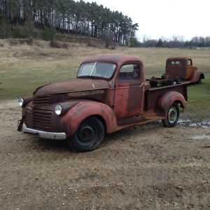 1946 GMC and 51 ford
