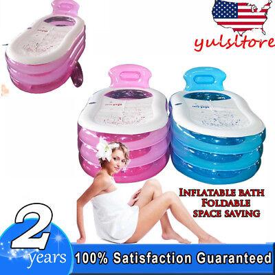 Blow Up Adult PVC Folding Portable Foldable Bathtub Inflatable Bath Tub 2 colors - Blow Up Tub