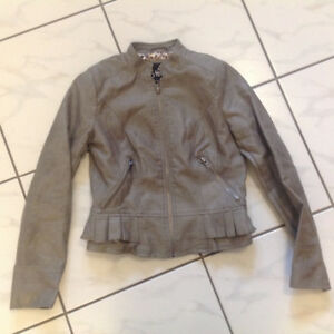 Girls Youth Size 10 Faux Leather Jacket