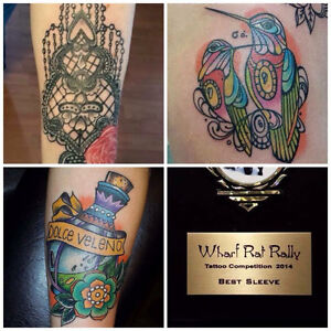 Professional tattoo work for musical instruments