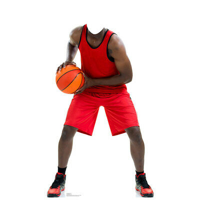 BASKETBALL PLAYER Stand-In CARDBOARD CUTOUT Standup Standee Standin FREE SHIP - Basketball Cardboard Cutouts