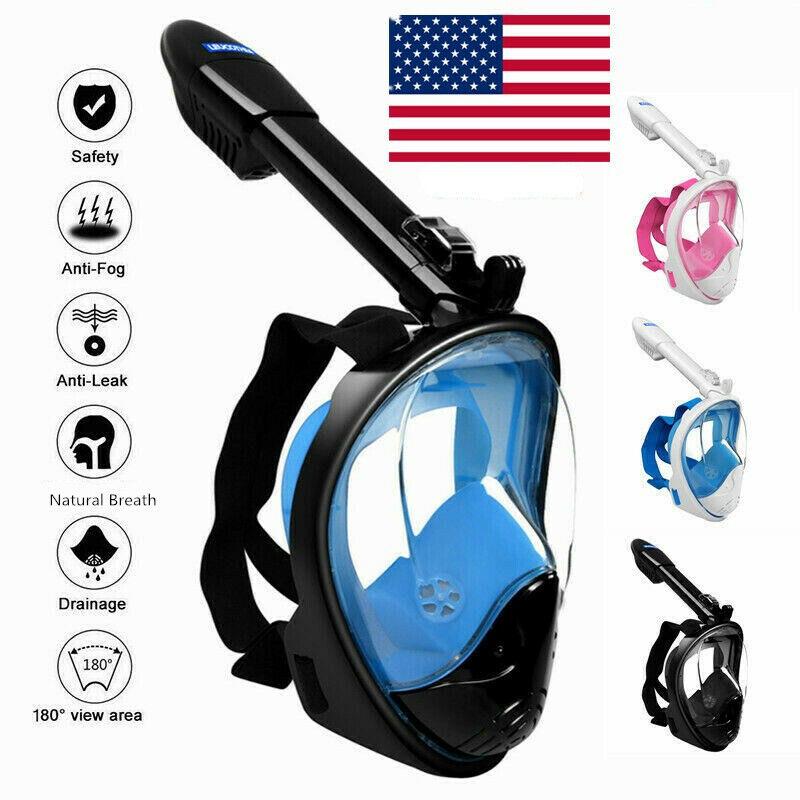 Full Face Snorkeling Scuba Goggle Anti-Fog Swimming Mask For Kids Adult S/M/L/XL