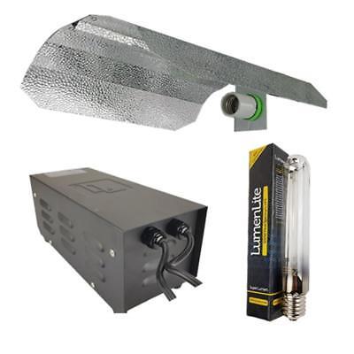 Hydroponic Grow Light Kit  Metal Ballast 600W HPS Dual Spectrum Bulb Reflector