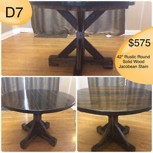 SOLID WOOD RUSTIC DINING TABLES