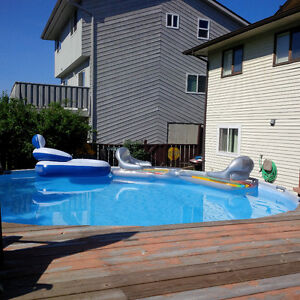 18ft by 4 ft above ground pool