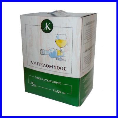 Griechischer Wein Ampelomythos Koutsodimos trocken weiß 5l Box