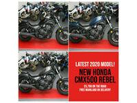 Brand New 2020 Honda CMX500 Rebel. A2 Legal Bobber. Choice of Colour. £5,799