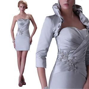 mariage-Robe-de-bal-Guest-courte-de-soiree-Ceremonie-de-mariee-Veste ...