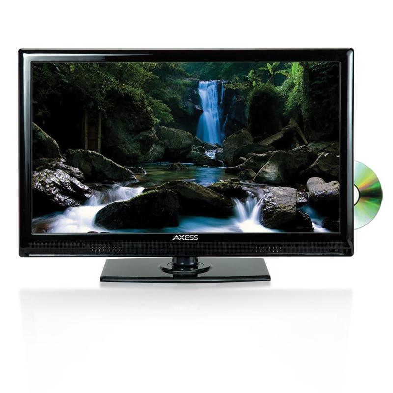 AXESS TVD1801-22 22-Inch 1080p LED HDTV, Features 12V Car Cord Technology, VGA/H