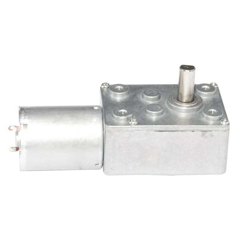 DC6 12V Gear Reduction Motor High Torque Turbo Geared Motor 0.6 To 45 RPM Speed