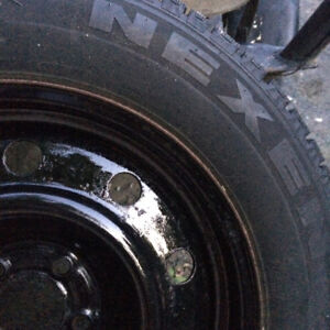 4x studded winter tires on rims 225 65 17