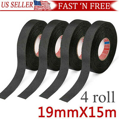 4 Rolls Cloth Tape Wire Electrical Wiring Harness Car Auto Suv Truck 19mm15m