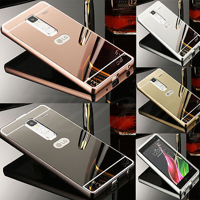 Us Luxury Metal Aluminum Frame Bumper Case   Pc Mirror Back Cover For Lg Phone