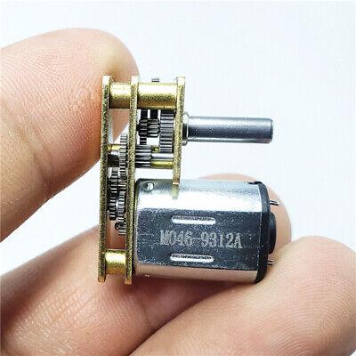 Micro 7-type N20 Full Metal Mini Gear Motor Dc 3v-12v 5v 6v Slow Speed Diy Robot