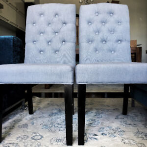 Grey Dining Chairs (RARELY USED)