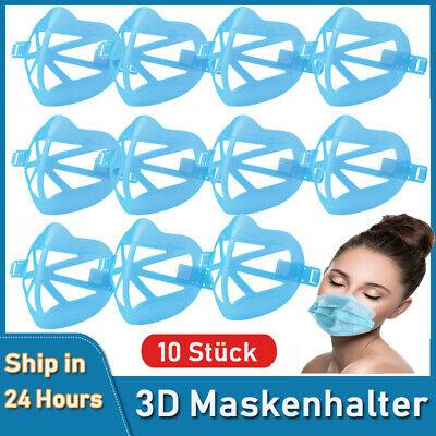 10X Halter für Masken-Innenstützen Mund Nasen schutz Abstandshalter Atemhilfe DE