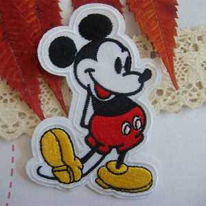 Mickey Mouse Iron / Sew On Patch Embroidered Disney Character Kids Applique