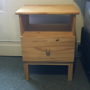 Brown Ikea Bedside Table