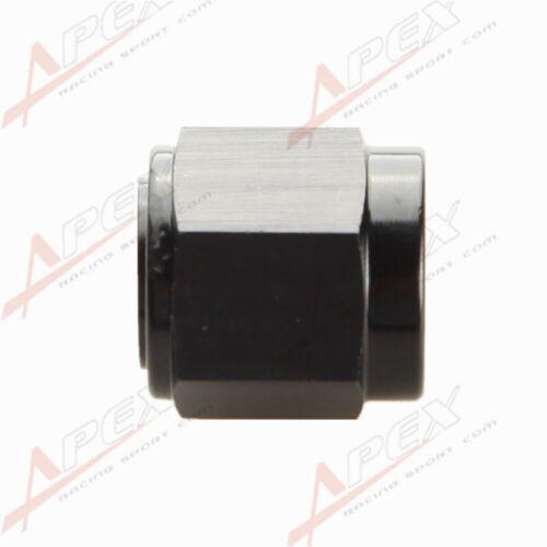 12AN -12AN AN12 12AN Flare Cap Caps Block Off Fitting Aluminum Black