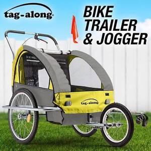 Tag-along Kids Bike Trailer Bicycle Pram Stroller Yellow New Sydney City Inner Sydney Preview