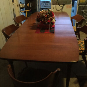 Colonial table and chairs $350