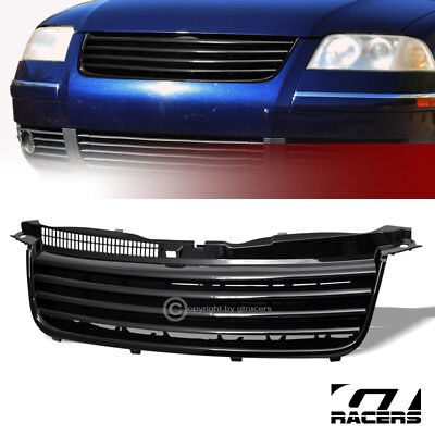 - For 2001-2005 Vw Passat B5.5 Black Horizontal Front Hood Bumper Grille Guard Abs