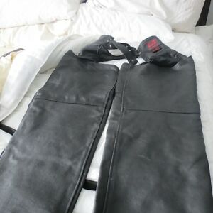 LEATHER NATURAL RIDERS MOTERCYCLE RIDING CHAPS 2X  LARGE