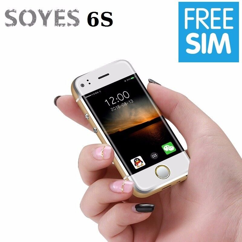 SOYES Smallest Android Mobile Phone 6S Dual Sim, Wifi & Camera + 2 Batteries, 4 Colours