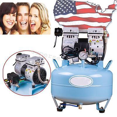 34hp Noiseless Oilless Air Compressor 30l Tank F Dental Chair 550w Warranty Usa