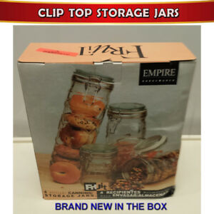 NEW ROUND CLIP TOP AIR TIGHT CANNING/STORAGE JARS