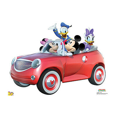 MICKEY MOUSE & FRIENDS Disney Car Ride CARDBOARD CUTOUT Standee Standup Poster - Mickey Mouse Cardboard Cutout