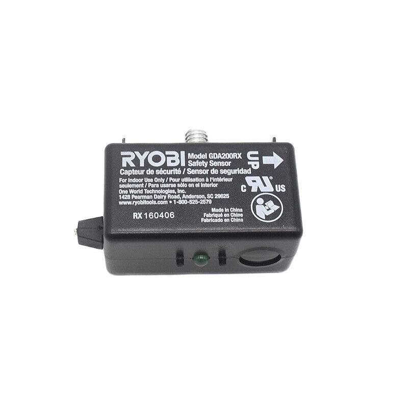 Used Ryobi GDA200RX Garage Door Safety Sensors Cable Cut