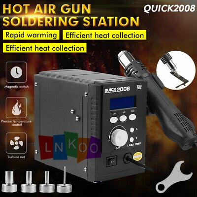 Quick 110v 2008 Portable Hot Air Gun Smd Bga Rework Station Soldering Us Stock
