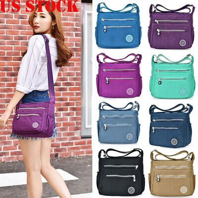 US Women Tote Messenger Cross Body Handbag Hobo Bag Ladies Shoulder Bag Purse